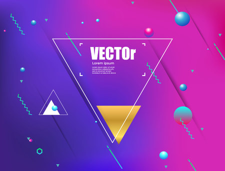 Abstract gradients geometric background. colorful vector illustration