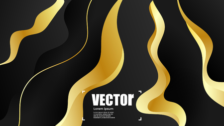 Abstract gradients gold background. colorful vector illustration