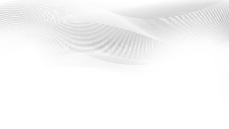 Patrón abstracto de líneas y ondas blancas grises. Vector
