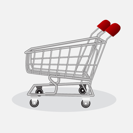 shopping cart isolated on white vector background