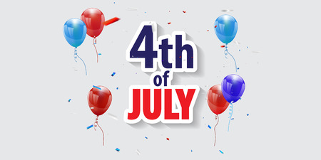 Happy 4th of July holiday banner. USA Independence Day Background Stock Illustratie