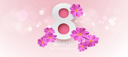 8 March. Happy Mother's Day. with flower holiday background - Vector Standard-Bild - 139649858