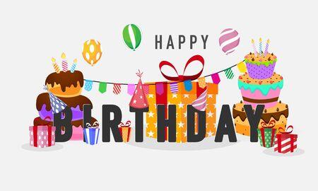 birthday party Colorful celebration background.