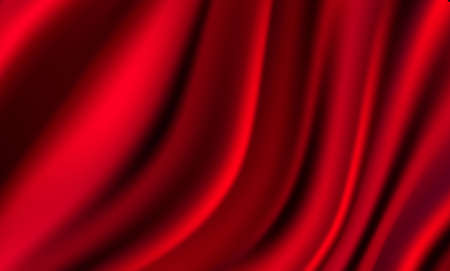 Abstract gradients, fabric red waves banner template background.