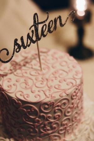 Incredible Decorated Chocolate Sixteenth Birthday Cake Stock Photo Picture Personalised Birthday Cards Akebfashionlily Jamesorg