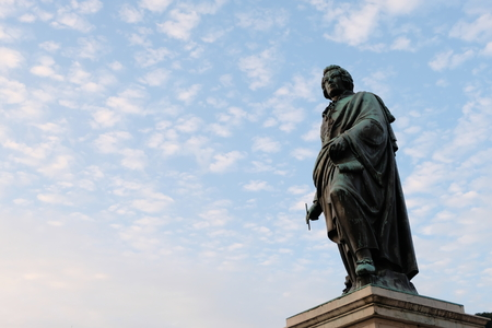 mozart statue in Salzburg