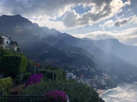view of Positano Italy Stok Fotoğraf - 123153930