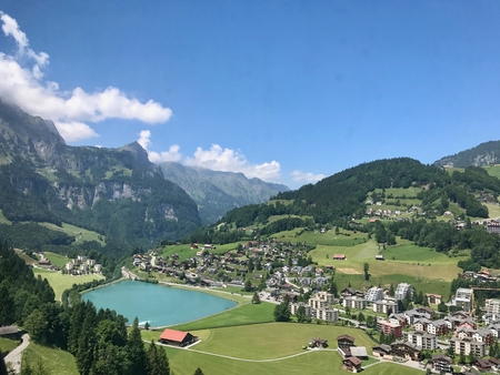 View of Engelberg Switzerland