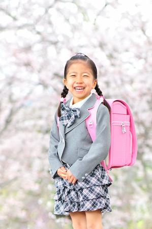 grade school age: New girl cherry Stock Photo
