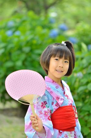 upper school: Japanese girl (Kimono Hydrangea)