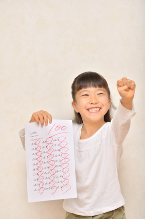 Girl please, take 100 points Stock Photo
