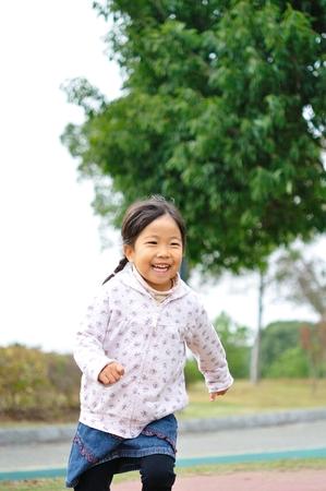 upper school: Girl running