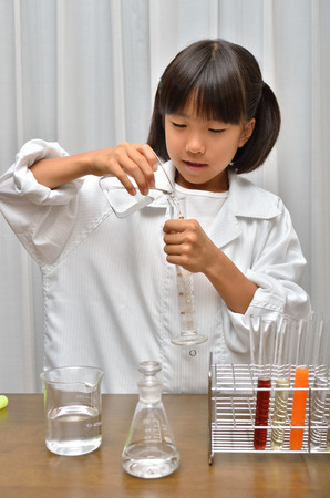 test tube holder: Science for girls Stock Photo