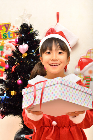 santa claus costume: Give the gift Santa Claus costume girl