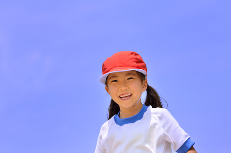 sports day: Girl smile (Sports day)