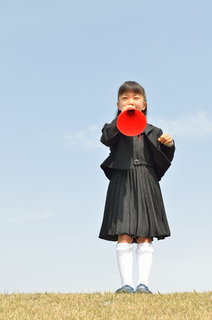 The first grade girl cheering