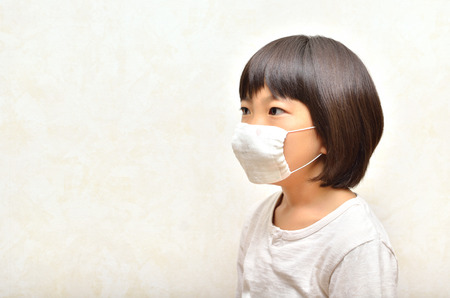 Girls wear mask