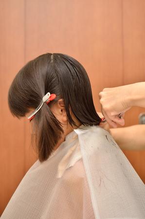 Girl hair cut