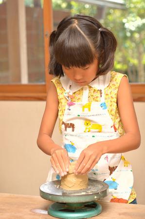 Girls enjoy pottery
