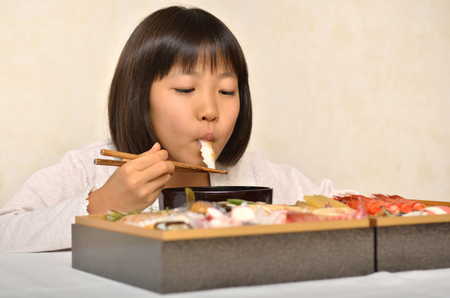 end of a long day: Girls enjoy Japanese new year holiday