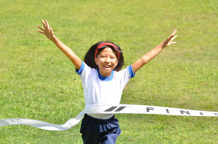 Girls finish the goal line