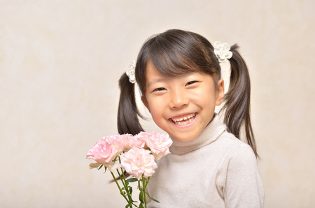 Girl and Carnation