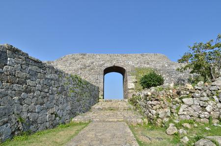 Nakagusuku Castle vestige (Okinawa Japan) 写真素材