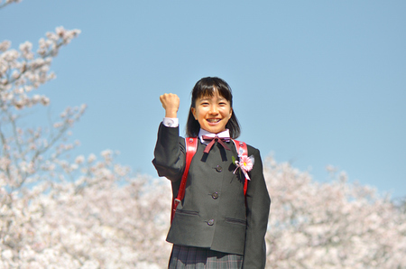 Japanese elementary school student (cherry, graduation)