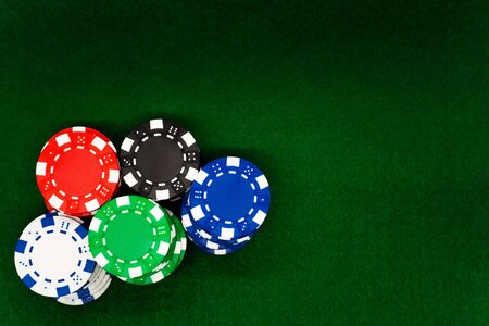 Poker chips Archivio Fotografico