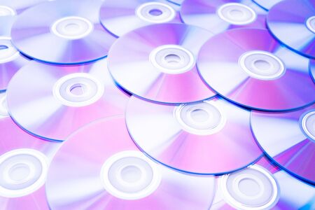 Lots of CD discs and DVDs