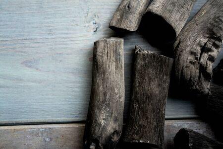 Japanese charcoal, Binchotan Foto de archivo