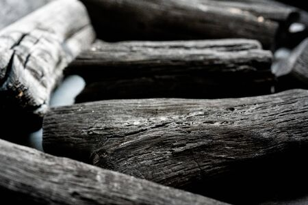 Japanese charcoal, Binchotan Foto de archivo - 150555801