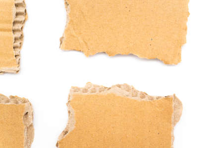 Piece of cardboard on a white background
