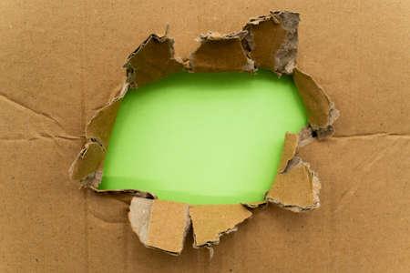 Cardboard with hole