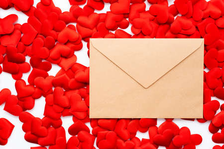 Love Letters, Lots of Hearts and Letters Stock Photo
