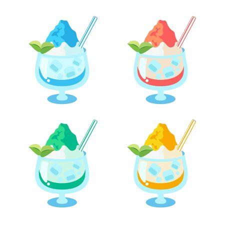 Shaved ice 4 types set