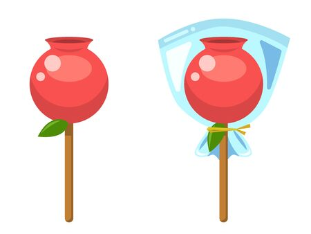 Illustration of red apple candy 일러스트