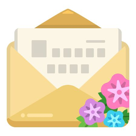 Illustration of letter (letter, stationery, envelope, mail)  イラスト・ベクター素材