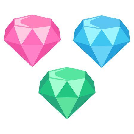 Illustration of sparkling jewels (diamonds)