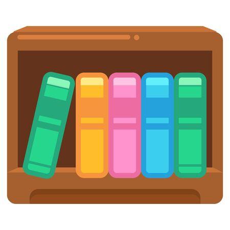 Illustration of books and bookshelf
