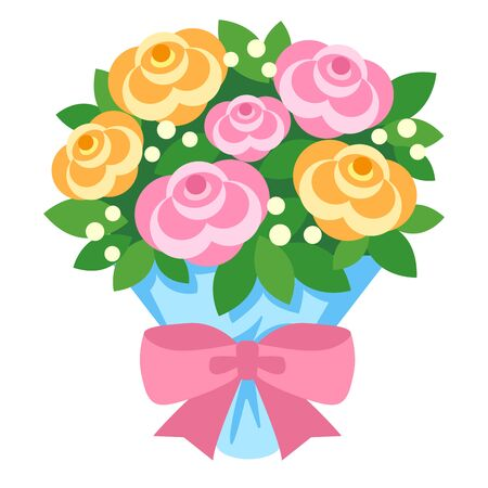 Illustration of bouquets (bouquet / carnation / rose) for Mother's Day and Father's Day