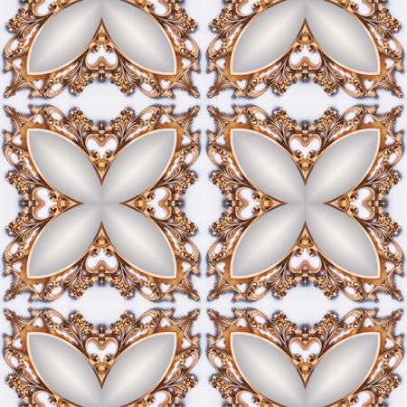 art museum: Luxury elegant ornamental golden background, kaleidoscopically generated, seamless