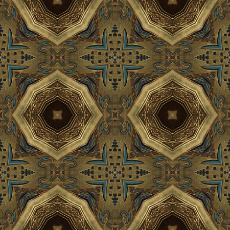Golden ornament - kaleidoscopic wallpaper tiles