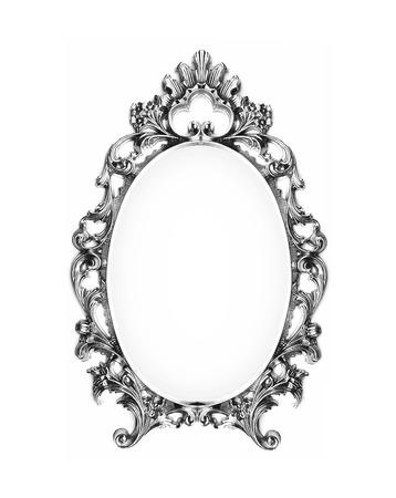 silver frame: Vintage silver frame Stock Photo