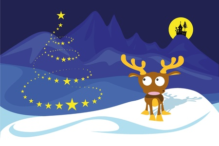 Reindeer on the north pole  Stock Vector - 10593858