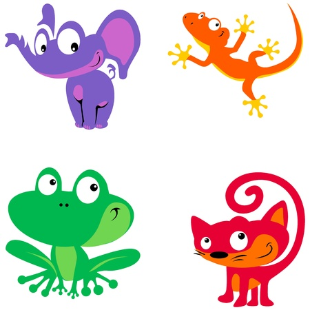 simple animals Vector