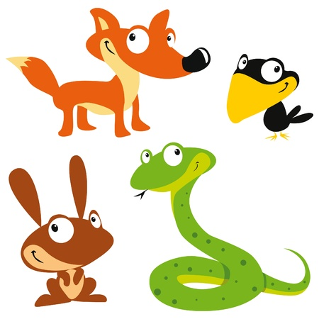forest animals Stock Vector - 10832458