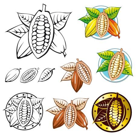 cocoa bean symbols  Vector