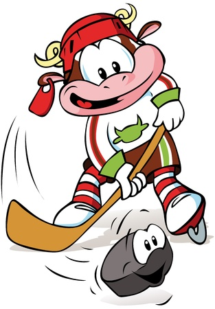 hockey mascot Stock Vector - 11129639