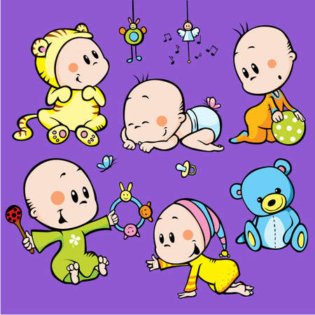 cute babies Stock Vector - 13847859